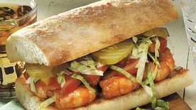 New Orleans Barbecued Shrimp Po' Boys
