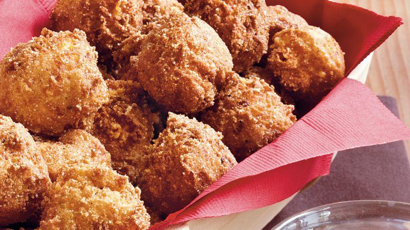 Bacon Cheddar Hush Puppies Recipe Pillsburycom
