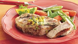 Grilled Orange-Parsley Pork Chops