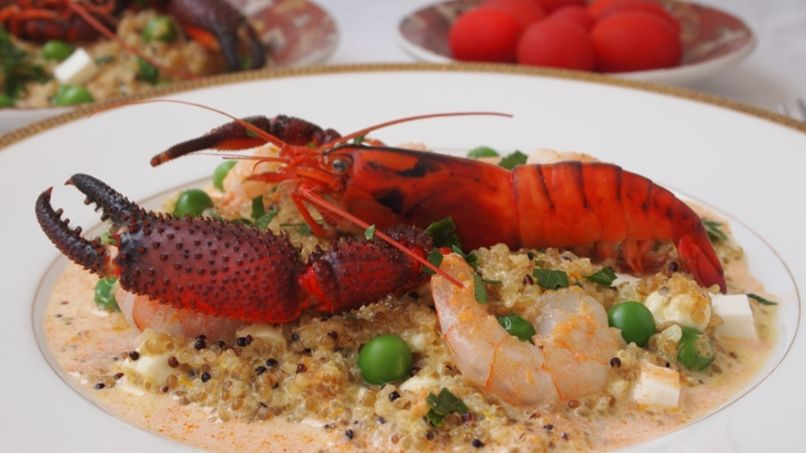 Shrimp Quinotto