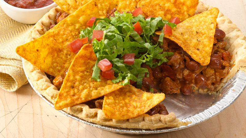 recipe: taco pie with tortilla chips [11]