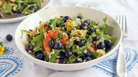 Blueberry Salad with Jalapeno-Orange Dressing