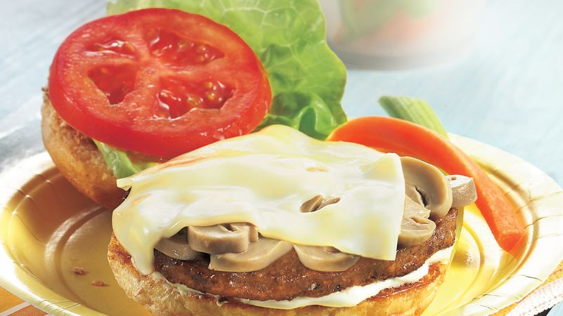 Mushroom-Swiss Veggie Burgers