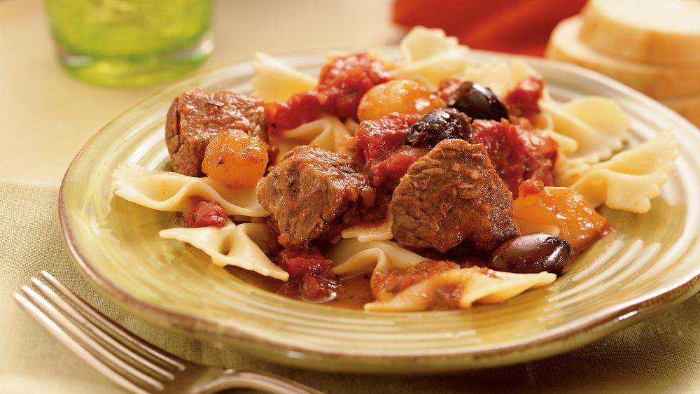 Slow-Cooker Zesty Italian Beef Tips
