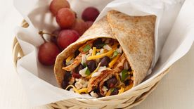 Skinny Chicken and Black Bean Burritos