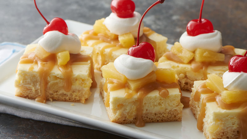 Pineapple Cheesecake Bars