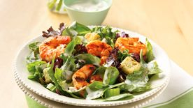 Grilled Buffalo Shrimp Salad