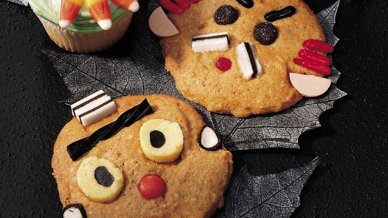Make-a-Face Pumpkin Cookies