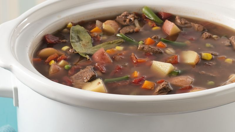 Slow cooker vegetable beef soup recipe bettycrocker slow cooker vegetable beef soup forumfinder Image collections