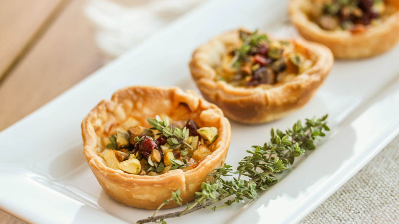 Apple and Gruyère Cheese Tarts