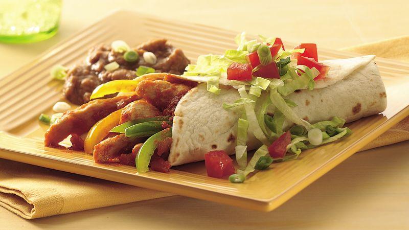 Salsa Chicken Burritos