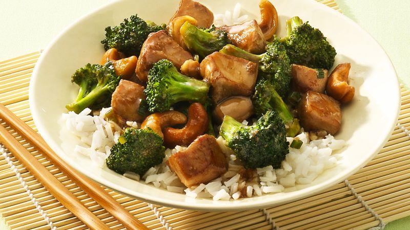 Cashew Chicken and Broccoli