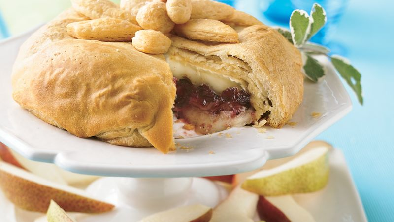 pastry wrapped cranberry brie recipe pillsbury com