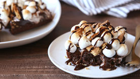 S'mores Poke Brownies