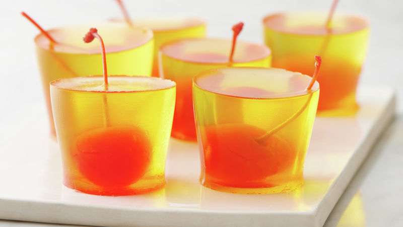 Pineapple Upside-Down Jello Shots