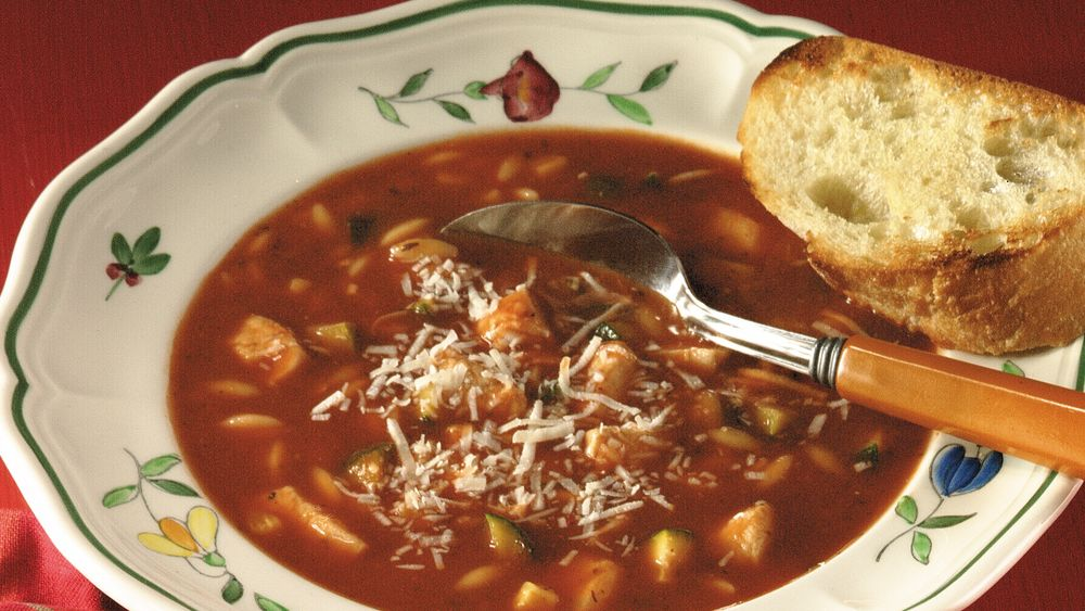 Chicken-Tomato-Basil Soup
