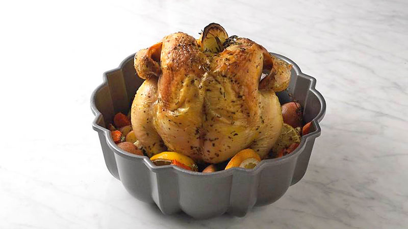 Bundt Pan Roasted Chicken and Vegetables