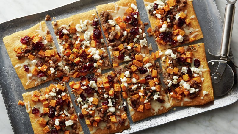 Holiday Turkey Sausage Flatbread