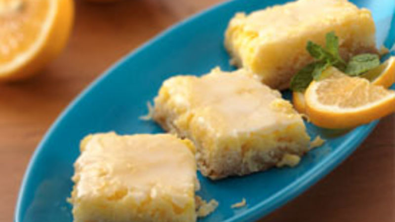 Glazed Lemon-Coconut Bars (Cooking for 2)