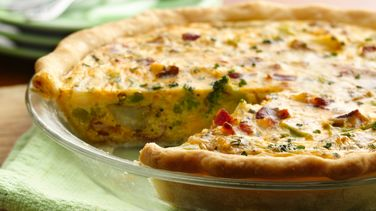 Canadian Bacon and Potato Quiche recipe from Pillsbury.com