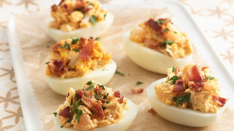 Seafood Deviled Eggs