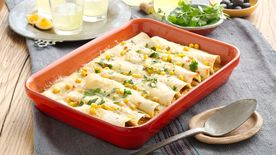 Chicken and Corn Enchiladas