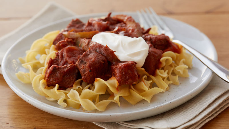 Slow Cooker Hungarian Goulash Recipe Bettycrocker Com