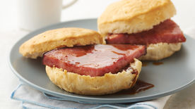 Ham Biscuits with Red-Eye Gravy