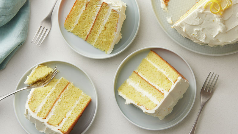 Lemon Velvet Cream Cake Recipe Bettycrocker Com