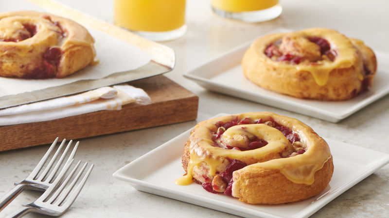 Bejeweled Cranberry-Orange Rolls