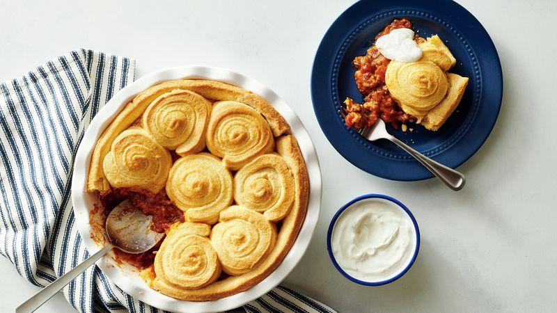 Cornbread Swirl Tamale Pie