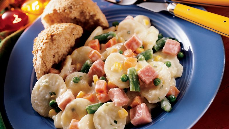 Creamy Scalloped Potatoes and Ham Supper