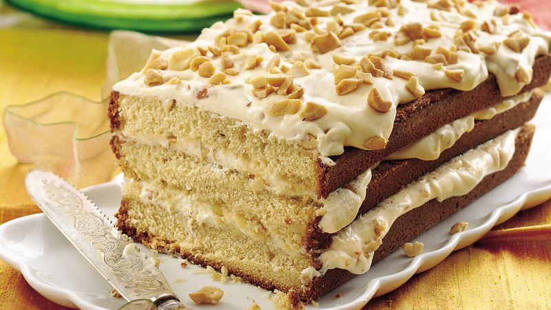 Browned Butter Pound Cake With Caramel Cashew Filling Recipe