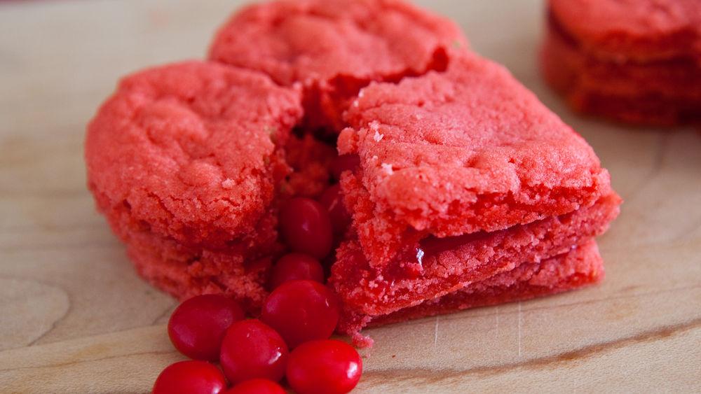 Red Hot Heart Cookies