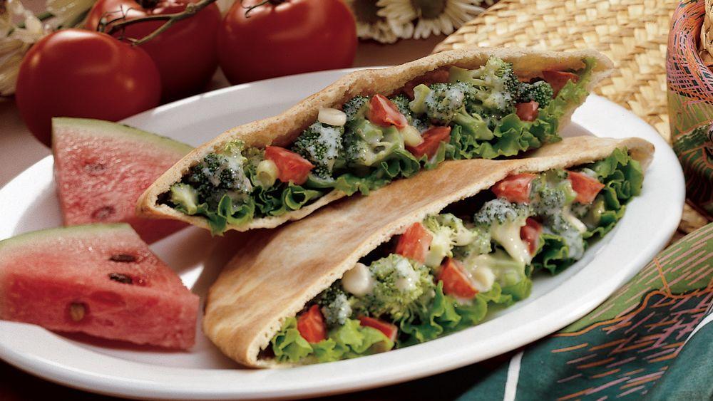 Broccoli Salad Pitas