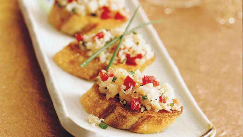 Herbed Seafood Bruschetta
