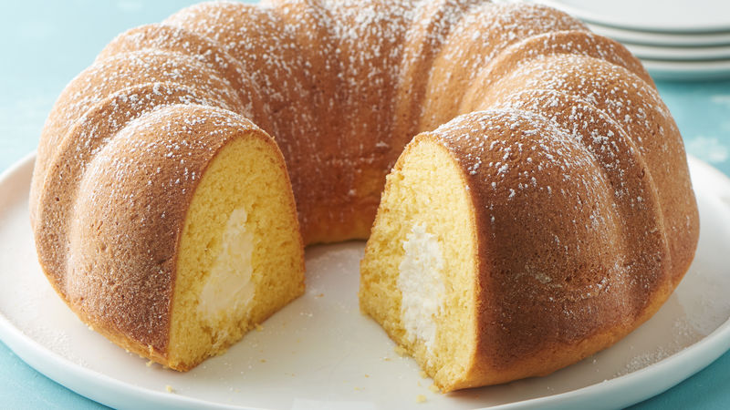 crème filled golden bundt cake recipe bettycrocker com