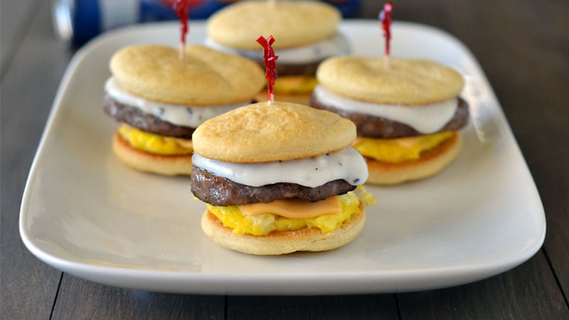Crescent Bun Breakfast Sliders