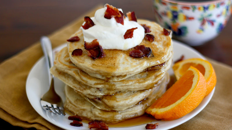 Coffee Bacon Pancakes