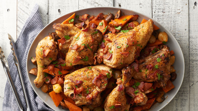 Slow-Cooker Savory Roast Chicken and Vegetables