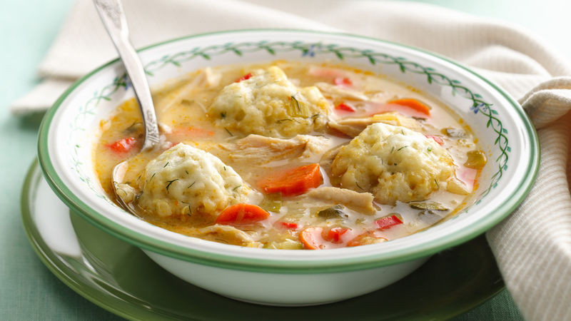 Fresh Vegetable Chicken Soup with Quinoa Dumplings