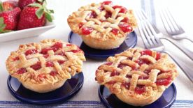 Mini Strawberry Rhubarb Lattice Pies