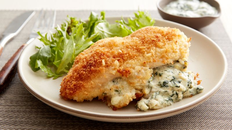 Spinach and Artichoke-Stuffed Chicken Breasts