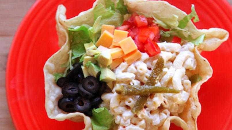 Creamy Taco Pasta Salad In A Taco Shell
