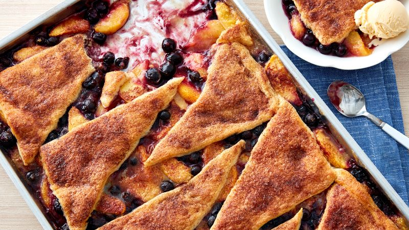 Peach-Blueberry Crescent-Topped Sheet-Pan Dessert