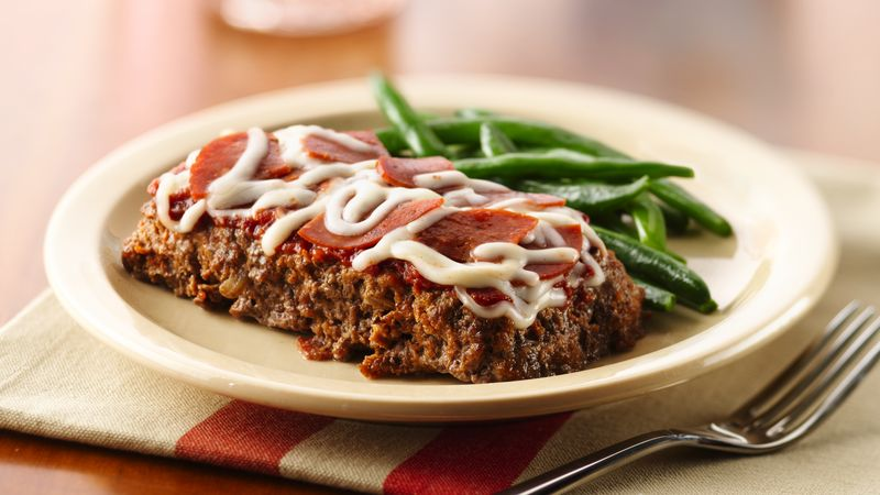 Skinny Mini Pizza Meatloaves