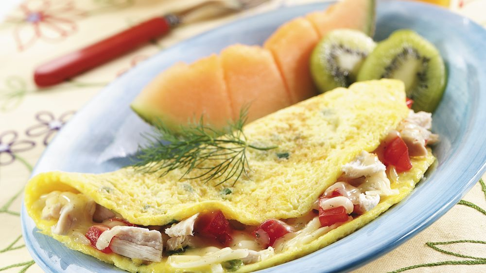 Dilly Chicken Omelet