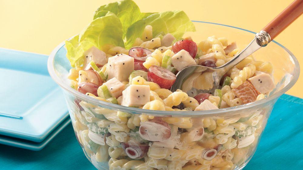 Chicken Pasta Salad With Poppy Seed Dressing Recipe Pillsbury Com