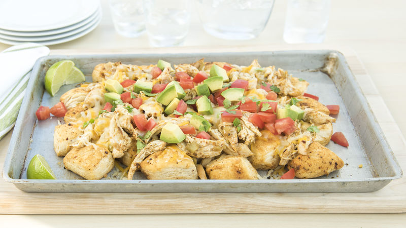 Cheesy Chicken Biscuit Nachos