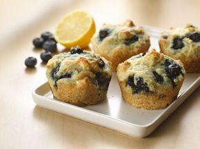 Greek Yogurt Blueberry Muffins
